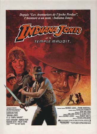 INDIANA JONES, temple maudit Synopsis Original 24x32 cm - 1984 - Steven Spielberg Harrison Ford