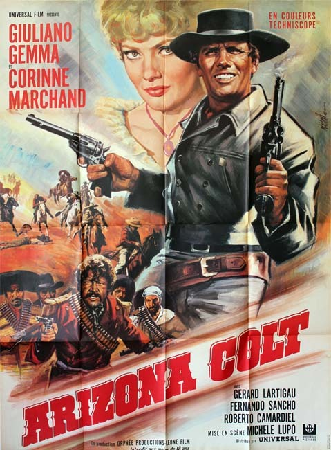ARIZONA COLT Affiche originale du film 120x160 cm - It.-Fr. 1966 - Giuliano Gemma Michele Lupo
