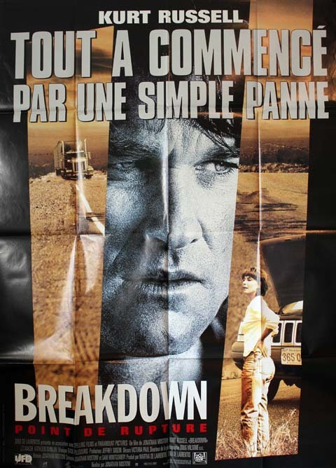 BREAKDOWN, Point de rupture, Affiche du film 120x160 cm - USA 1997 - Kurt Russell Jonathan Mostow