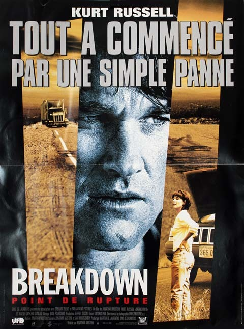 BREAKDOWN, Point de rupture, Affiche du film 40x60 cm - USA 1997 - Kurt Russell Jonathan Mostow