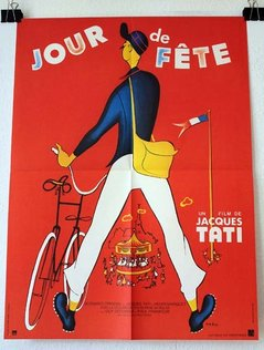JOUR DE FÊTE Affiche du film - 1947 - Jacques Tati Guy Decomble Paul Frankeur 60X80 CM