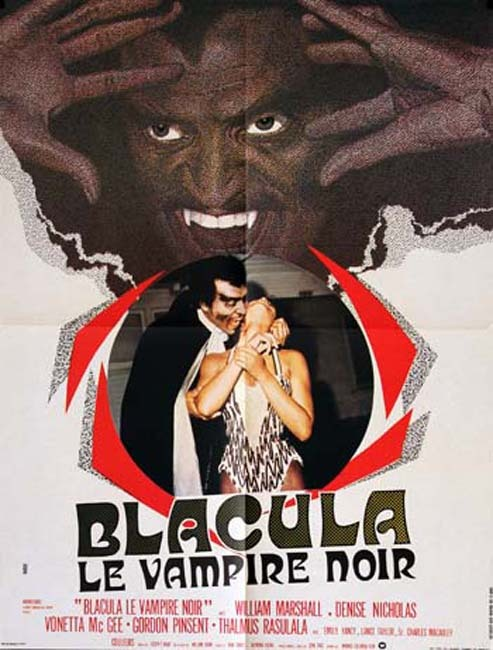 BLACULA LE VAMPIRE NOIR Affiche du film - 1972 - William Crain W. Marshall D. Nicholas 60X80 CM