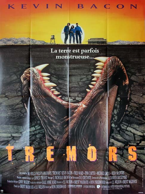 TREMORS Affiche Originale du Film - USA 1989 - Kevin Becon Ron Underwood 120x160 CM